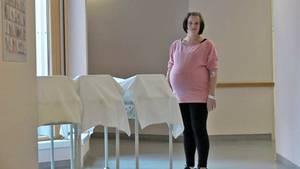 In der Klinik stehen die Bettchen schon bereit: Lorena Acker (32) kurz vor der Entbindung ihrer Vierlinge.