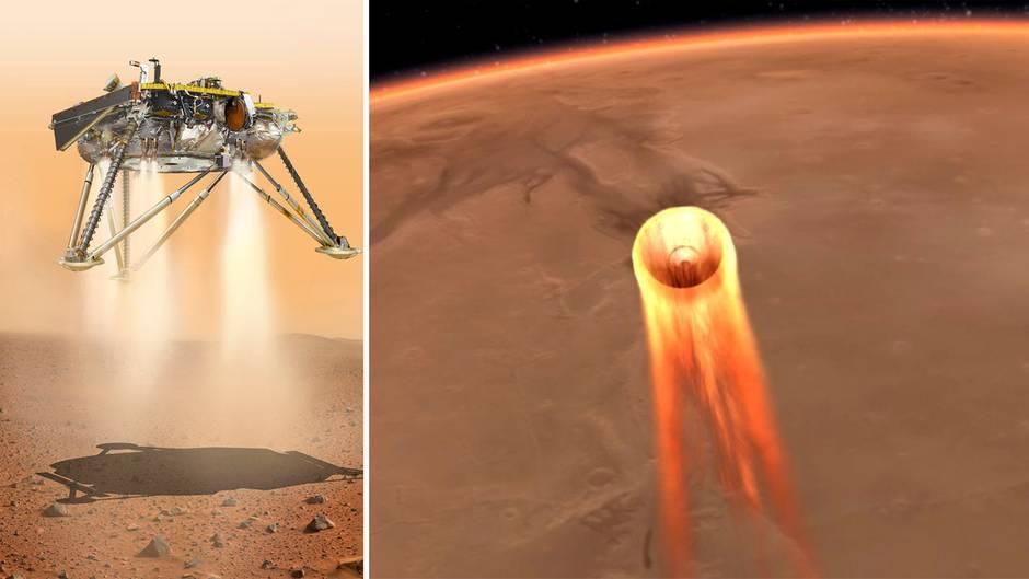 """Mars-Landung der """"InSight""""-Sonde mit Spannung erwartet: Von 20.000 auf 8 km/h"""