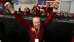 """Die Nasa feiert die Landung der Sonde """"InSight"""" auf dem Mars"""