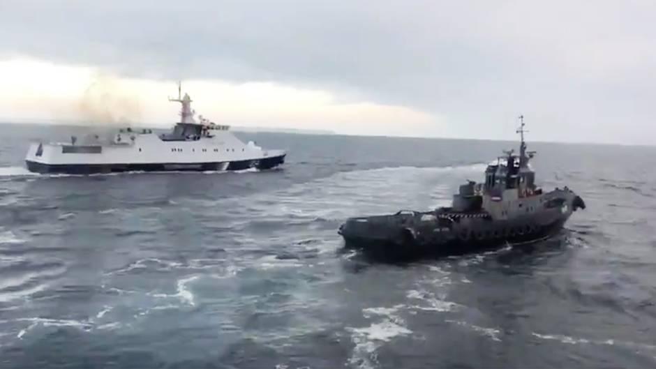 Krim-Halbinsel Video soll Ramm-Manöver zeigen – Ukrainischer Präsident unterzeichnet Kriegsrechts-Dekret
