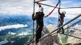 Der Bau der neuen Seilbahn auf die Zugspitze