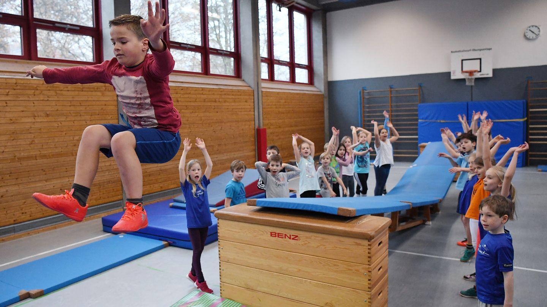 Schulsport in einer Grundschule