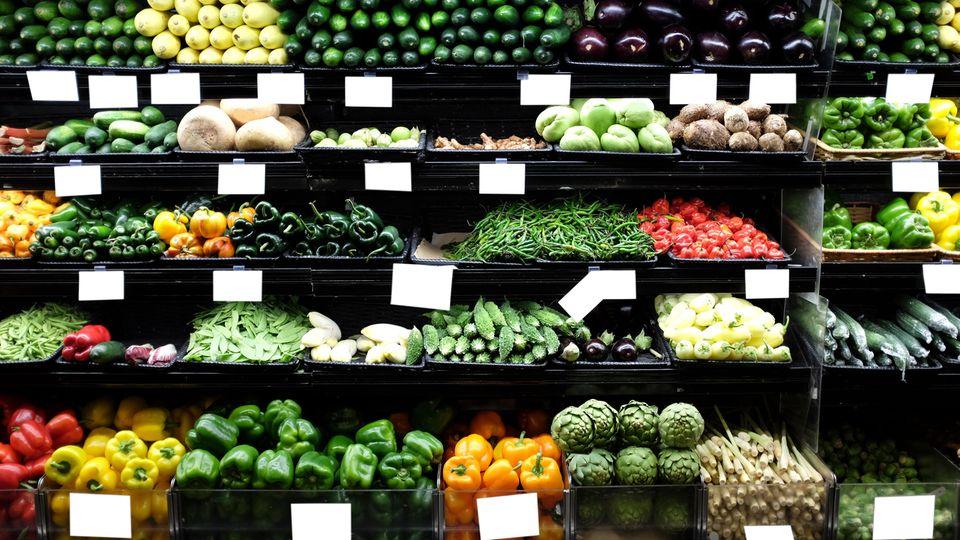 Gemüseregal