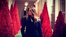 Melania Trump dekoriert das Weiße Haus für Weihnachten