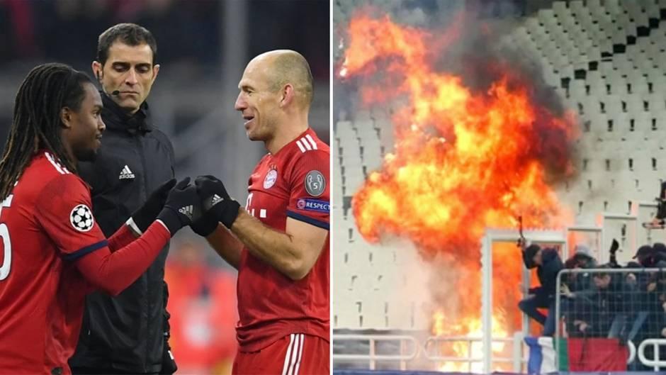 5:1-Kantersieg: Bayern erreichen Champions-League-Achtelfinale – hässliche Szenen in Athen