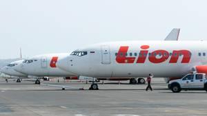 Ein Flugzeug des indonesischen Billigfliegers Lion Air
