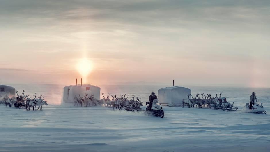 Bei den Dolganen: Dieses Volk lebt bei Temperaturen bis zu minus 60 Grad