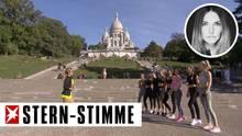 """""""Sylvies Dessous Models"""": HalbnackteWork-outs vor der historischen Kulisse von Sacré-Cœur"""