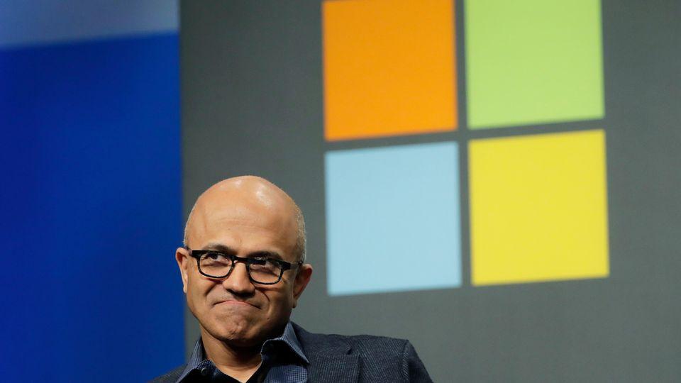 Microsoft-Chef Satya Nadella hat derzeit allen Grund zur Freude