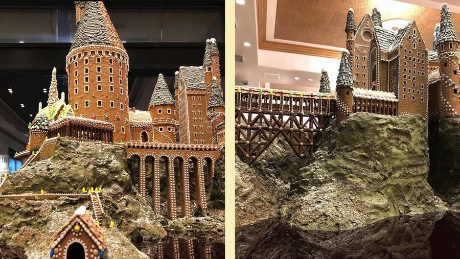 """Magischer Leckerbissen: Dieses Hogwarts-Schloss aus Lebkuchen erfüllt jeden Traum eines """"Harry Potter""""-Fans"""
