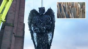 """Liverpool: """"Messerengel"""" aufgestellt – Dieses Mahnmal hat einen traurigen Hintergrund"""