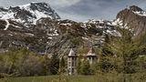 Von den Italienern erbaut, nach dem Zweiten Weltkreig von Frankreich zerschlagen: das alte Kraftwerk unter dem Col du Mont Cenis.