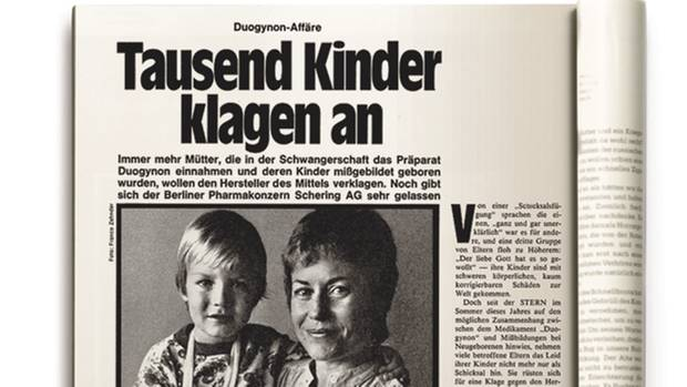 1978 berichtet der stern von Missbildungen bei Kindern, deren Mütter das Medikament eingenommen hatten. Doch erst 1981 verschwand das Präparat vom deutschen Markt.