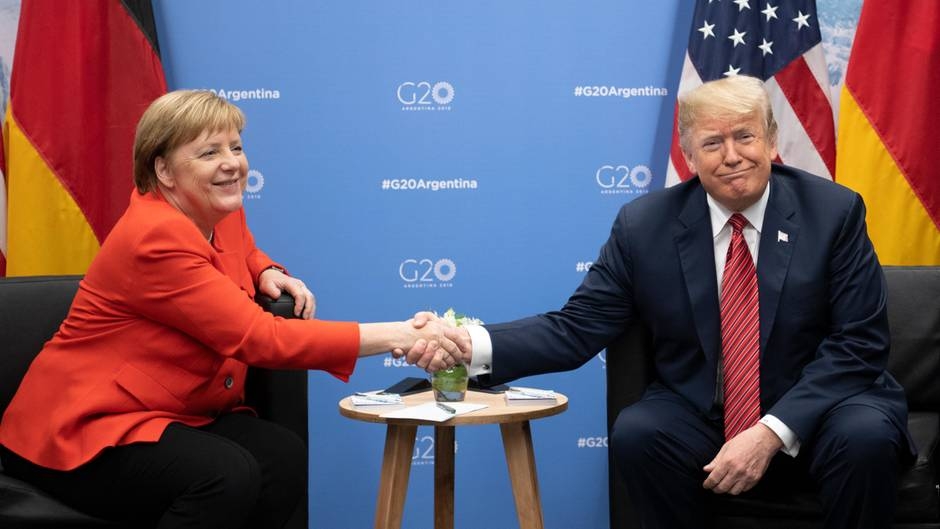 Angela Merkel und Donald Trump beim G20-Gipfel