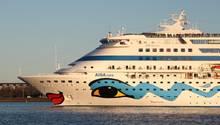 """Läuft im Moment die Kanarischen Inseln: Die """"Aida Cara"""" ist das älteste und kleinste schiff der Kussmund-Flotte."""