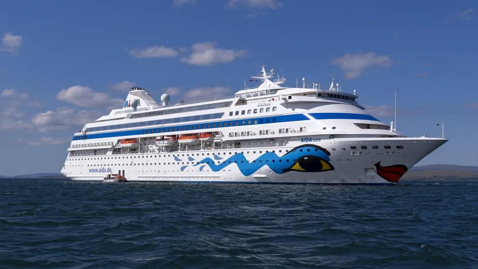 """Läuft im Moment die Kanarischen Inseln an: Die """"Aida Cara"""" ist das älteste und kleinste schiff der Kussmund-Flotte."""