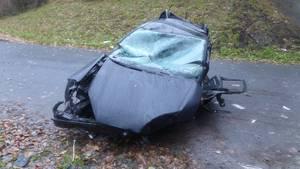 Niedersachsen, Bremerhaven: Das Auto stürzte eine Autobahnbrücke der A27 hinunter