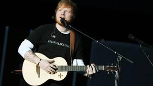 Johannesburg, Südafrika: Ed Sheeran beim Clobal Citizen Festival zu Ehren Nelson Mandelas