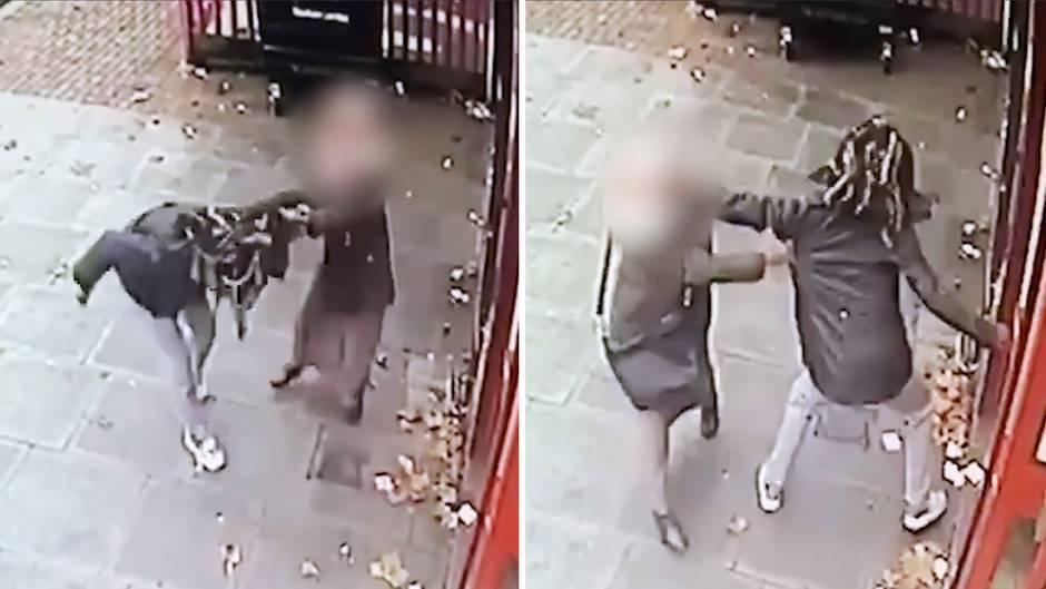 Fahndungsvideo: Brutaler Überfall am Geldautomaten – doch kein Passant hilft