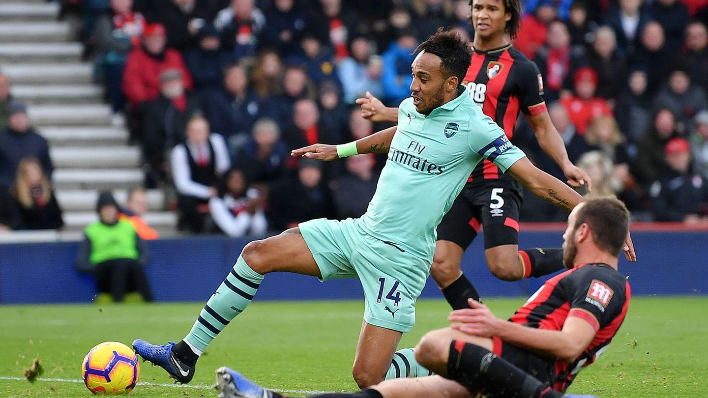 Aubameyang, hier im Spiel gegen den AFC Bournemouth, ist im Moment höchst effizient: Seine letzten zehn Schüsse auf das Tor waren erfolgreich.