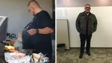Hector Hernandez vor dem Eingriff im Sommer 2018 (links) - und danach