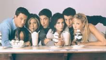 Friends Charaktere mit Milchshake