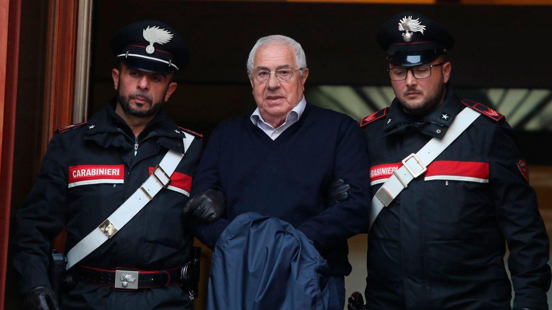 Mafia-Boss Settimino Mineo bei seiner Festnahme