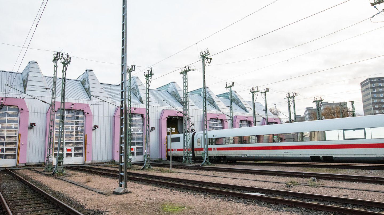 Einfahrt ins ICE-Werk Eidelstedt
