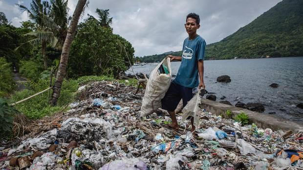 Im Kampf gegen Müll: Projektleiter Magga Fira