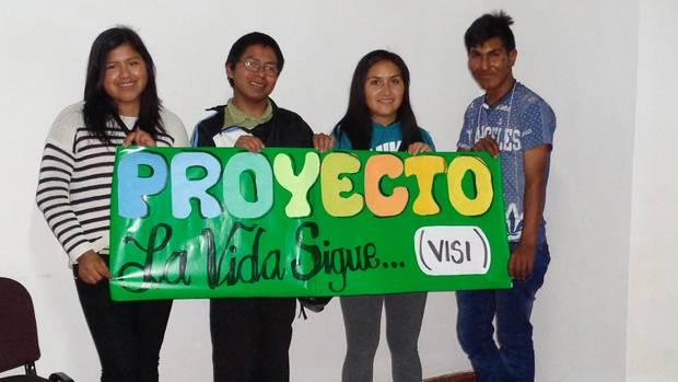Geförderte Jugendliche aus Sucre, Bolivien