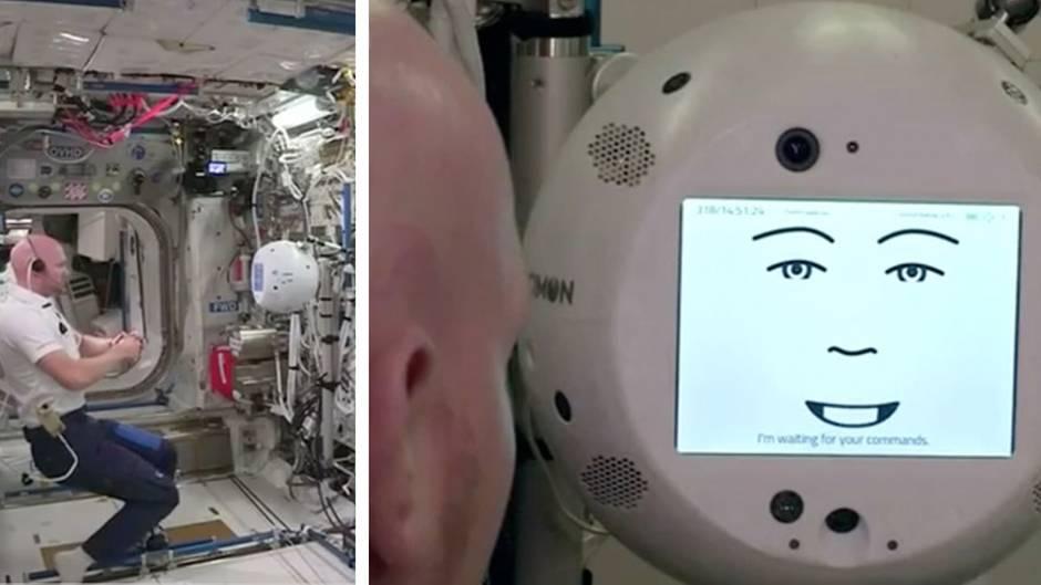 "ISS: ""Sei nicht so gemein"" – Alexander Gersts neuer Roboter schmollt im All"