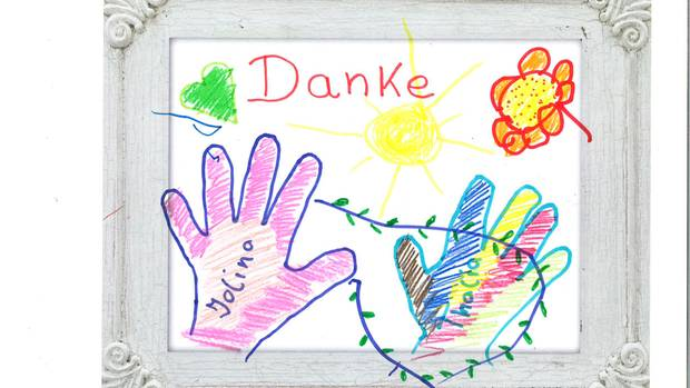 Ein Kinderbild als Dankeschön