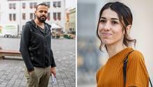 Nadia Murad und Omar Abdal-Dschabbar