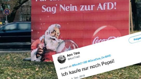 """#CocaColaNeinDanke: """"Sehr erbärmlich"""" – AfD ruft zum Boykott gegen Coca Cola auf"""