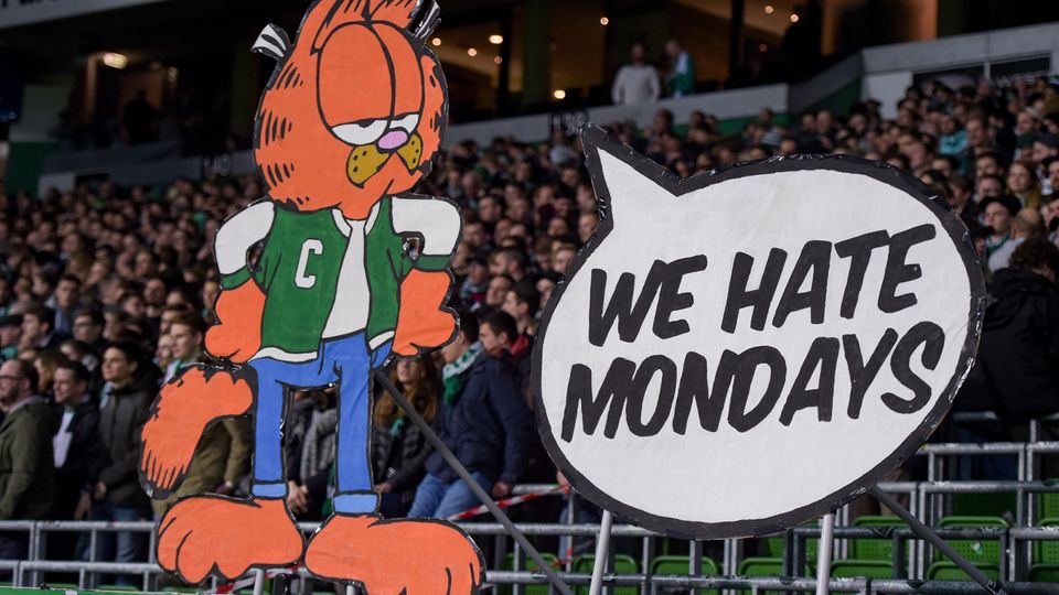 Protest gegen Montagsspiele