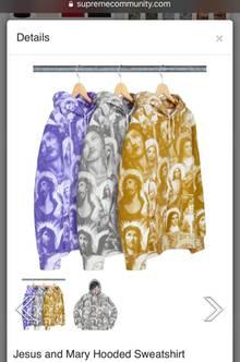 Sweatshirt mit Jesus und Maria aufgedruckt