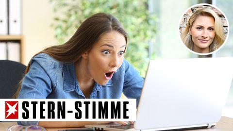 Junge Frau beim Onlineshopping