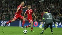 Der magische Moment: In der89. Minute des rein deutschen Champions-League-Finales im Wembley-Stadiongegen Borussia Dortmund erzielt Robben ein Jahr später den 2:1-Siegtreffer. Das Triple ist gewonnen, das Jahr 2012 ist vergessenund der FC Bayern feiert das erfolgreichsteJahr seiner Geschichte - nicht zuletzt dank Arjen Robben.