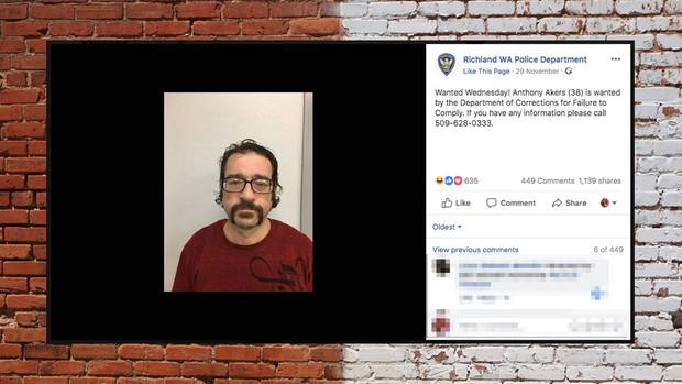 Mit diesem Bild suchte die Polizei nach Anthony Akers