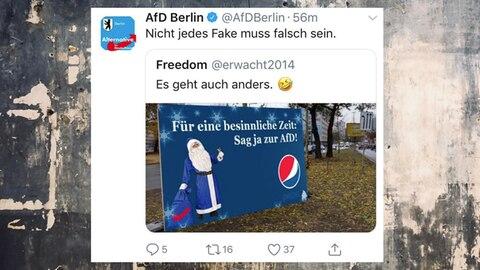 Screenshot des gefälschten Pepsi-Plakats