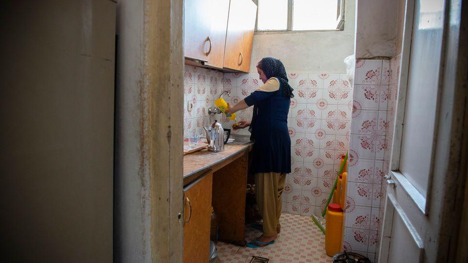 In Dienstelle 11, in der Schamila arbeitet, ist sie die ranghöchste Frau. Seit zehnJahren arbeitet sie für die Polizei.