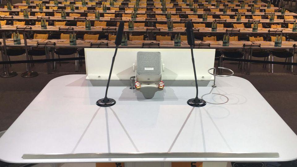 In diesem Saal in Hamburg wird am Freitag die Entscheidung über den künftigen CDU-Vorsitzenden getroffen