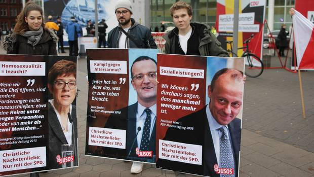 CDU-Parteitag Protest
