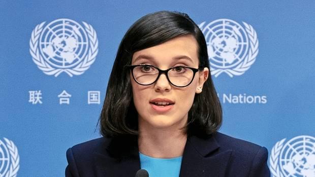 Große Bühne: Am 20. November hielt sie ihre erste Rede als Sonderbotschafterin von Unicef