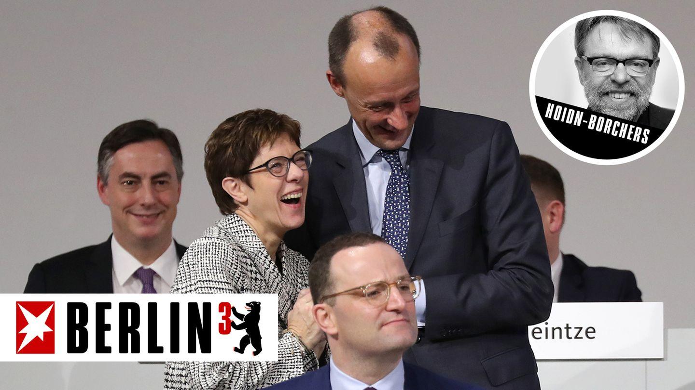 berlin3 - cdu-parteitag - sieger und verlierer