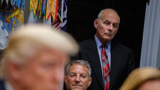 Donald Trump kündigt Abgang von Stabschef John Kelly an