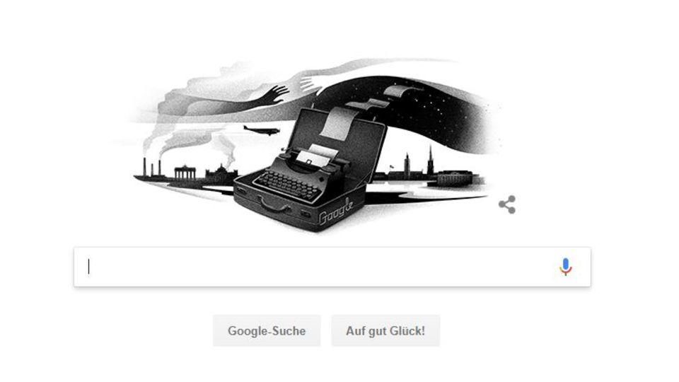 Google Doodle für Nelly Sachs