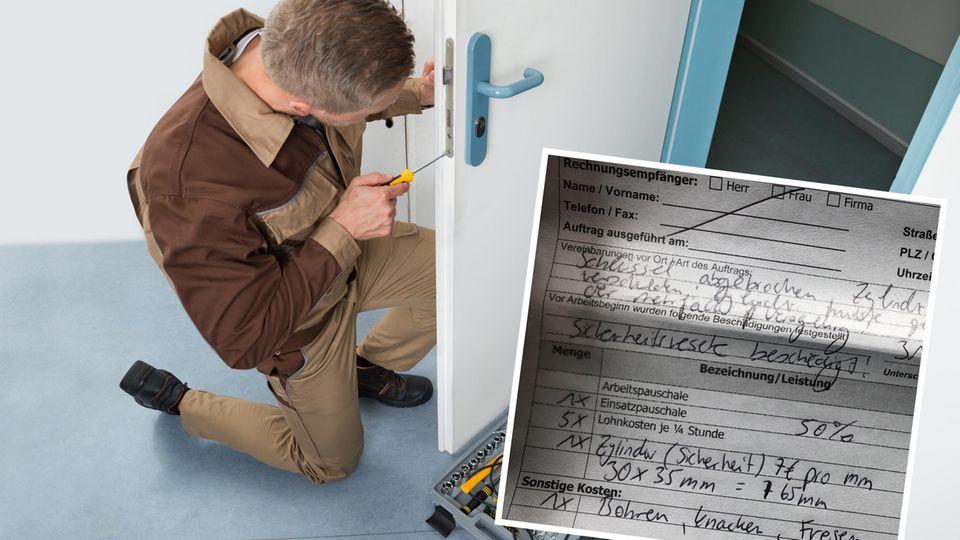 Wucher-Rechnung: Schlüsseldienst-Abzocke: Einmal Tür aufmachen kostet 1240 Euro - eine stern-Leserin erzählt