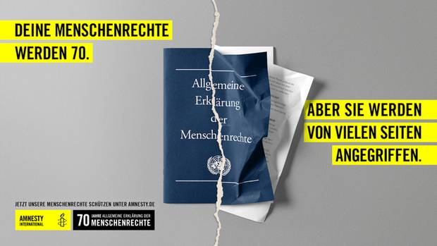 Allgemeine Erklärung der Menschenrechte 70 Jahre