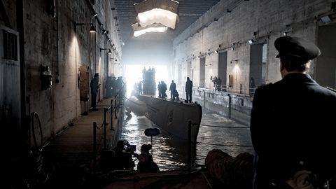 Nur in dem düsteren Bunker von La Rochelle sind die Boote sicher vor den Luftangriffen der Allierten.